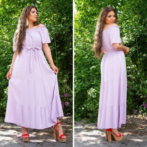 Vestido lila maxi de verano