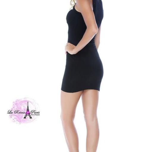 Vestido negro escote moderno  [1]