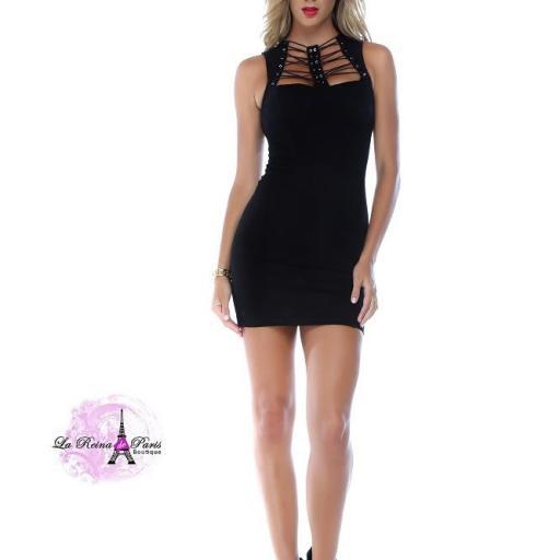 Vestido negro escote moderno  [2]