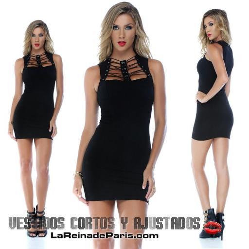 Vestido negro escote moderno  [3]