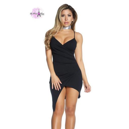 Vestido asimétrico envolvente  [1]