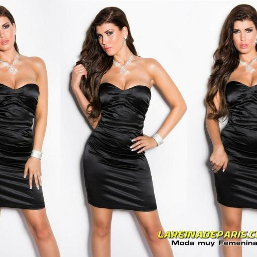 Vestido negro ceñido de cóctel  [3]