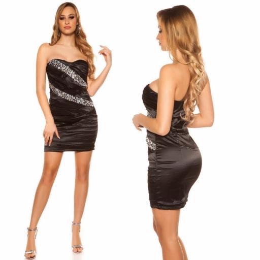 Vestido sedoso negro y brillo  [1]