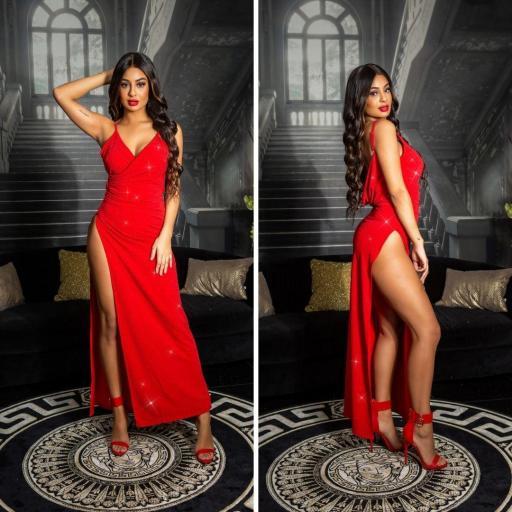 Vestido noche largo rojo [1]