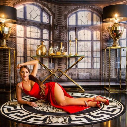 Vestido de noche rojo elegante [3]