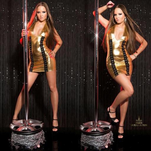 Vestido gold con cierre de gancho [3]