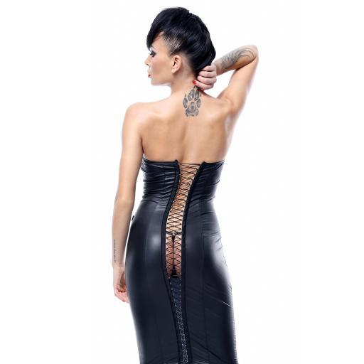 Vestido negro de PVC brillante [1]