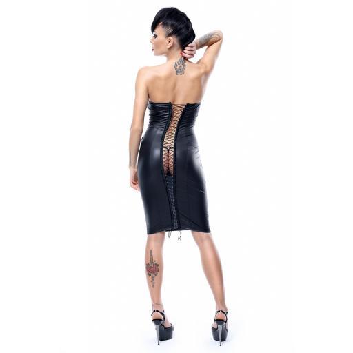 Vestido negro de PVC brillante [2]