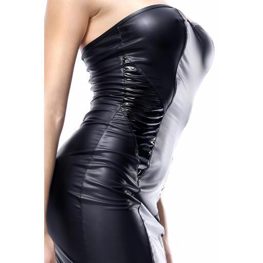 Vestido negro de PVC brillante [3]