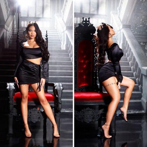 Vestido de fiesta sexy brillante negro