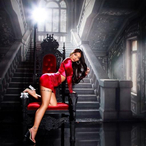 Vestido de fiesta sexy brillante rojo [2]