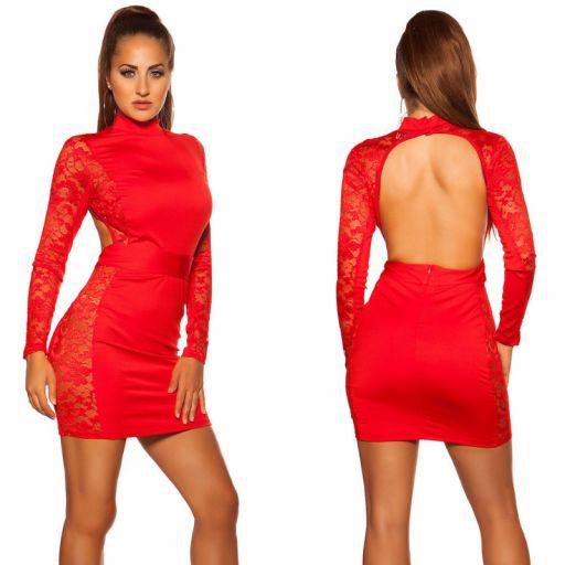 Vestido corto rojo espalda desnuda