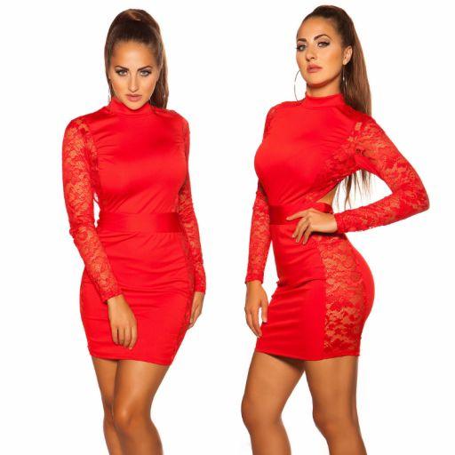 Vestido corto rojo espalda desnuda  [3]