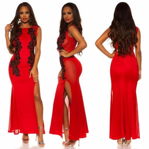 Vestido rojo de espalda sexy