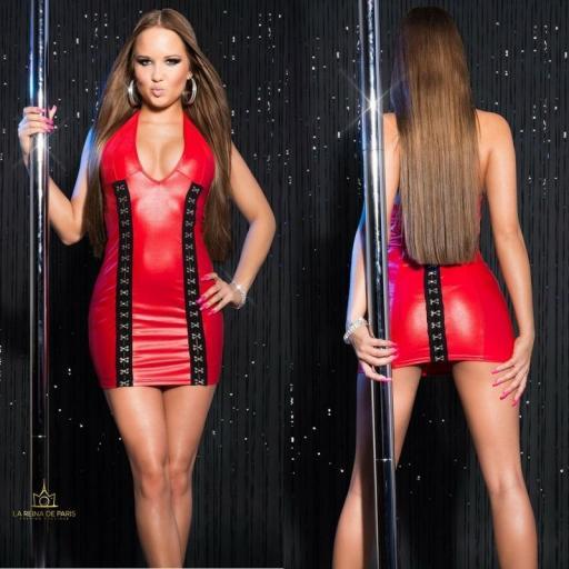 Vestido rojo con cierre de gancho [1]