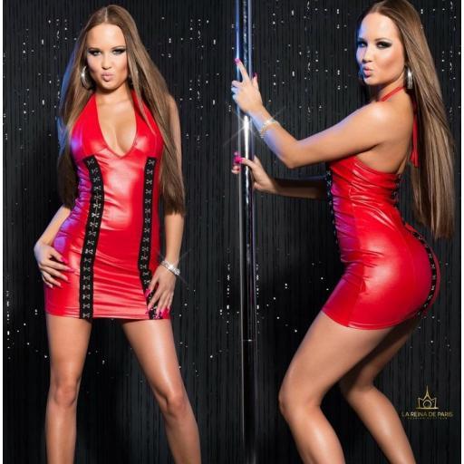 Vestido rojo con cierre de gancho [3]
