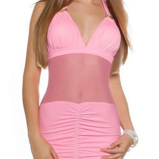 Mini vestido ajustado con transparencias [2]