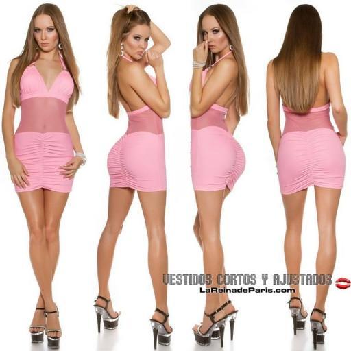 Mini vestido ajustado con transparencias