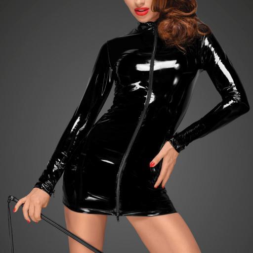 Vestido corto de PVC cremallera