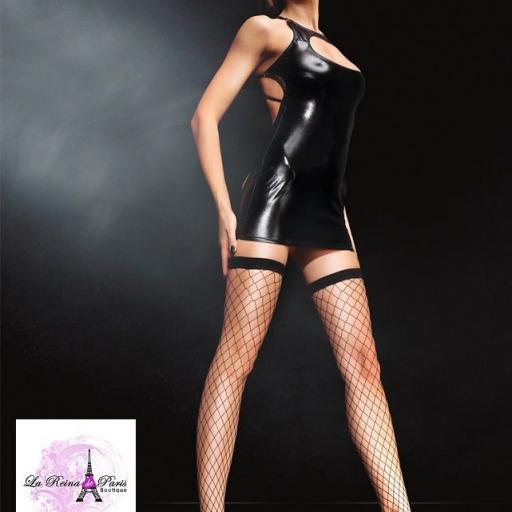 Vestido sexy sin espalda negro  [2]