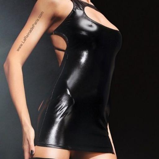 Vestido sexy sin espalda negro  [3]