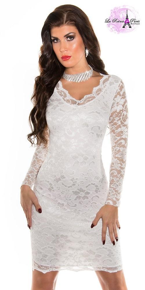 Vestido blanco icono de elegancia