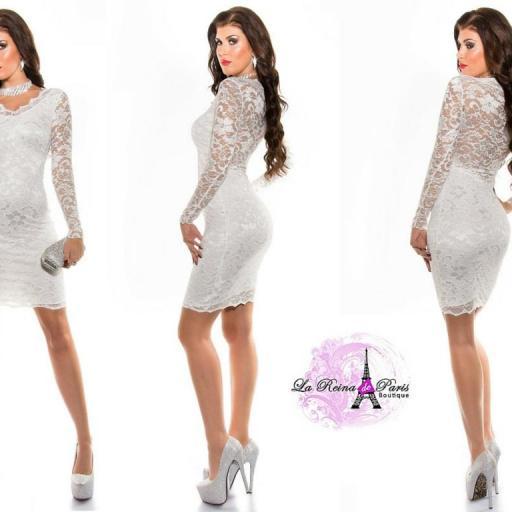 Vestido blanco icono de elegancia  [3]