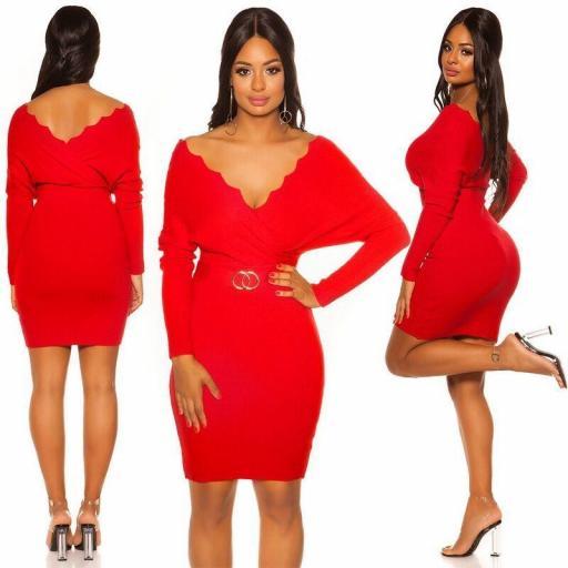 Vestido de punto Ling rojo