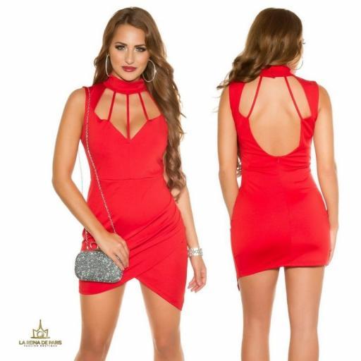 Vestido rojo de fiesta glamour y estilo