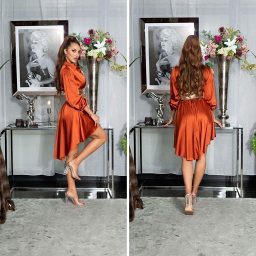 Vestido efecto seda bronce [3]