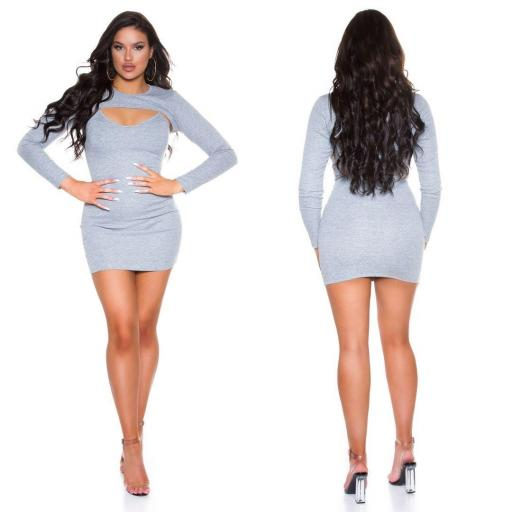 Vestido con top corto gris [2]