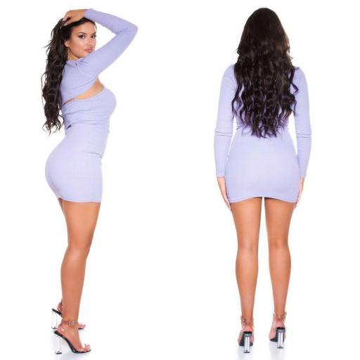 Vestido con top corto lila [1]
