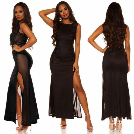 Vestido negro de espalda sexy [1]