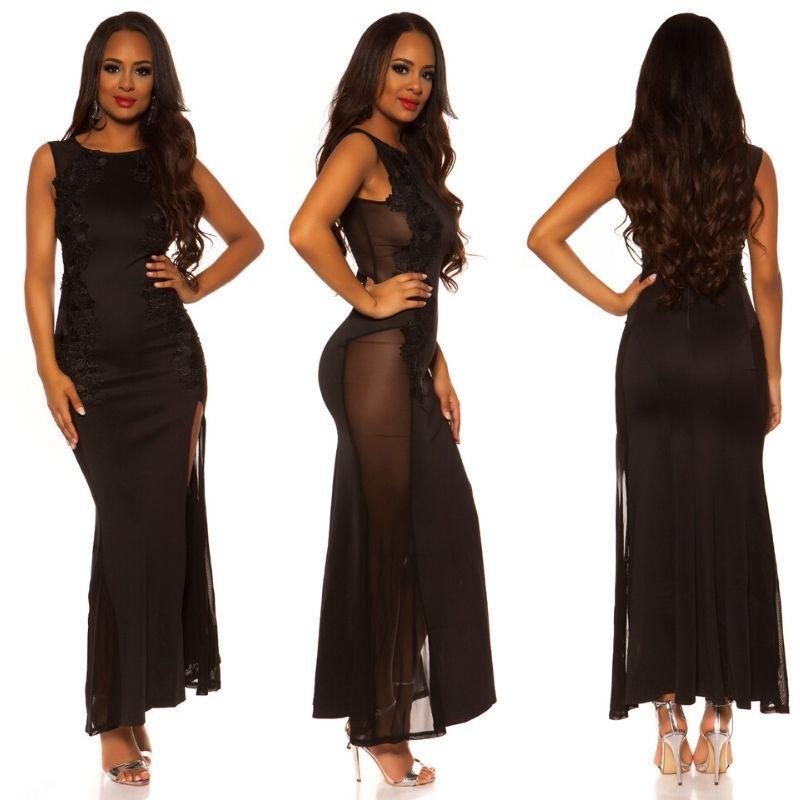 Vestido negro de espalda sexy