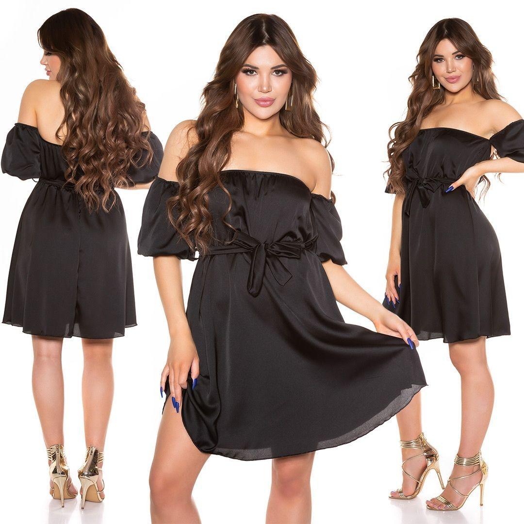 Vestido de verano hombros desnudos negro