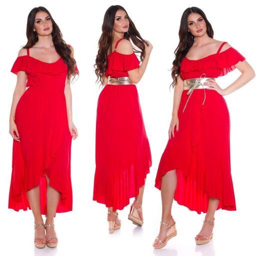 Vestido de verano Maxi rojo