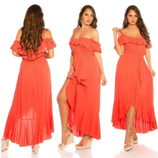 Vestido de verano Maxi naranja