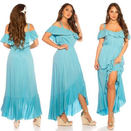 Vestido de verano Maxi turquesa