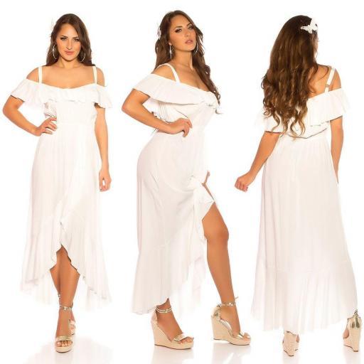 Vestido de verano Maxi blanco