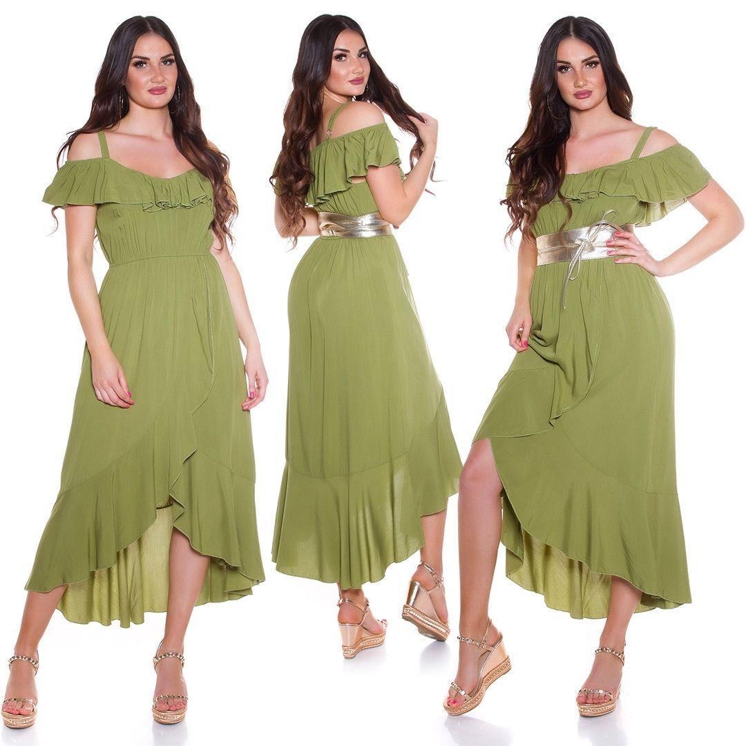 Vestido de verano Maxi verde