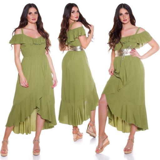 Vestido de verano Maxi verde [0]