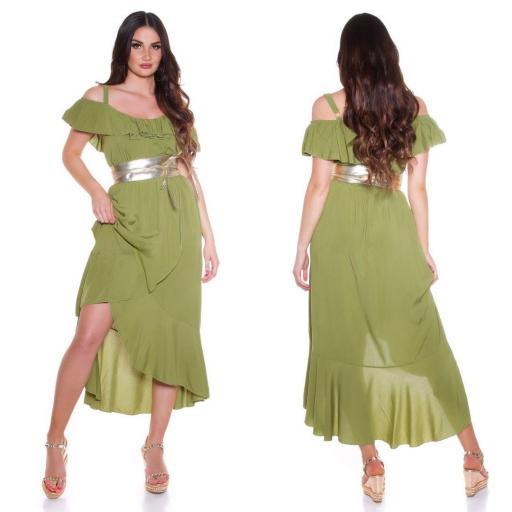 Vestido de verano Maxi verde [1]