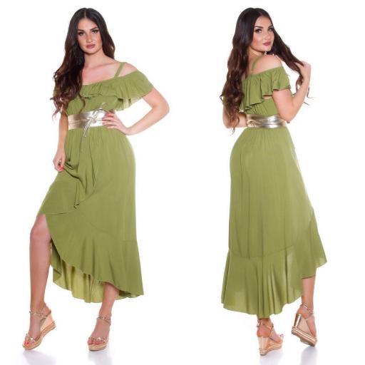 Vestido de verano Maxi verde [2]