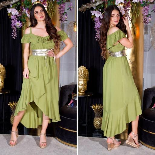 Vestido de verano Maxi verde [3]