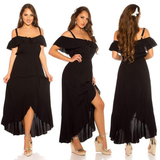 Vestido de verano Maxi negro