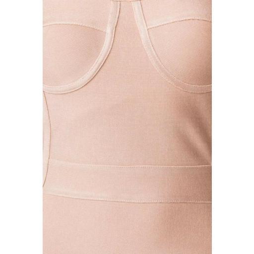 Vestido bandage largo rosa [2]