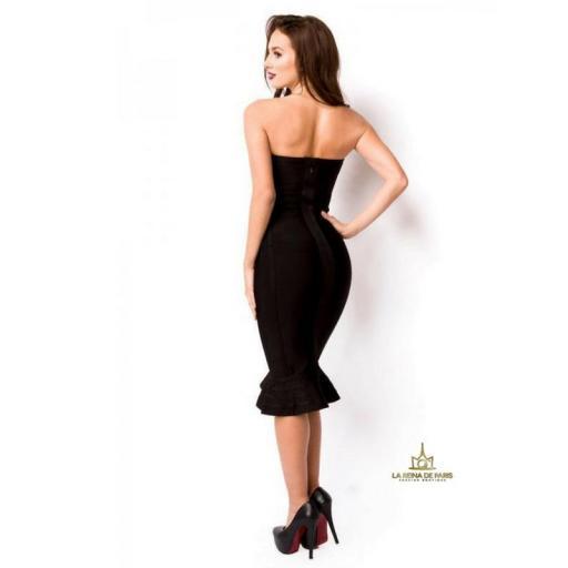 Vestido bandage largo negro [1]