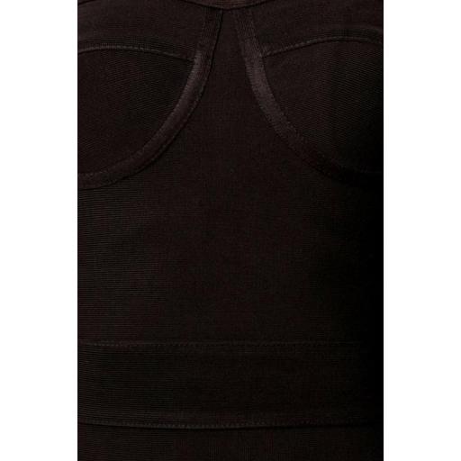Vestido bandage largo negro [2]
