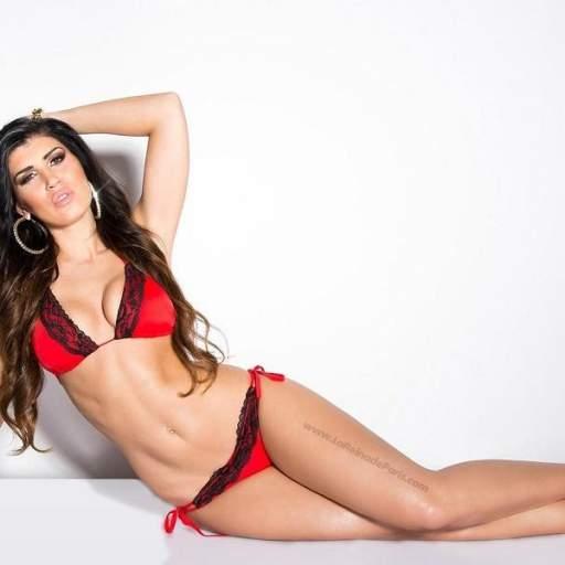 Bikini con encaje Gizel rojo [3]