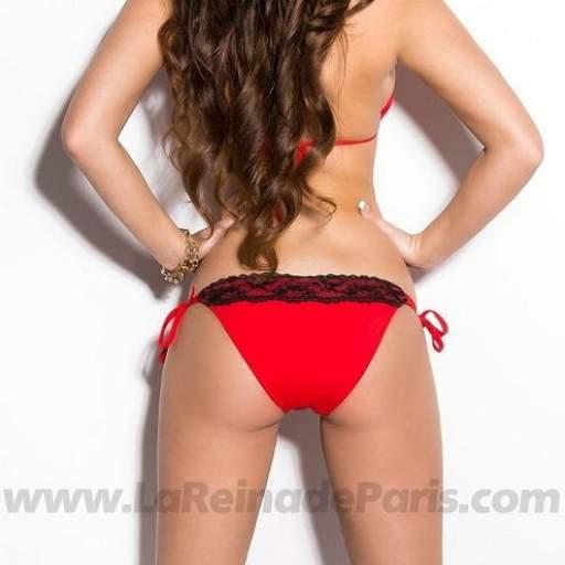 Bikini con encaje Gizel rojo [1]